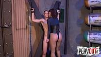 lesbian massage videos & Tristan SWEET Cums On Vivienne LAMOURS Fishnets thumbnail
