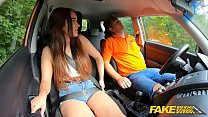 Fake Driving School Beautiful babe Ginebra Bellucci first driving lesson preview image