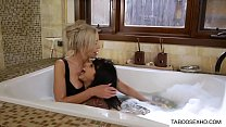 Stepmom and daughter bath Thumbnail