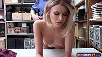 Blonde shoplifter gets punish fucked in the office video