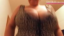 BBW Kristy huge natural tits (spy)