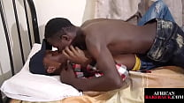 African Twink Jerks Dick While Getting Nailed