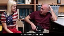 Cute Teen Shoplifter Fucked By Officer In Front Of Boyfriend