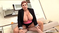 Redhead German granny abuses nephew with her bi... thumb
