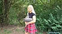 Public Agent British Blonde Amber Deen first time outdoor sex