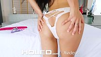 10902 HOLED Happy birthday anal fuck and creampie with brunette Adria Rae preview