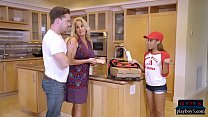 Tiny Black Pizza Delivery Teen Bangs A Big Dick