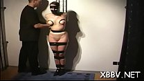 Tied up woman breast fetish punishment scenes in sadomasochism xxx pornhub video