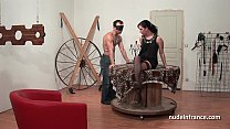 Young french brunette hard sodomized fisted and corrected in bdsm game thumbnail