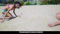 ExxxtraSmall - Beach Babe Boned in Hotel Room