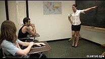 Punishment Handjob In The Classroom