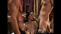 Gorgeous Brunette Threesome Image