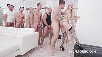 7on1 DAP Gangbang with Nikki Hill, Balls Deep Anal, DAP, Gapes, Creampie To Swallow GIO1274
