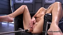 Blonde squirter fucking machine preview image