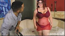 PinUp BBW Slut Trinety Fucks Big Black Cock Fir...