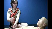 Naked man is bound for a one on one Girl Scout masturbation thumbnail