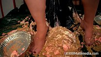 Wet and Messy Pie Fight Fifi Foxx and Whitney M...