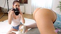 Rebecca Volpetti and Vyvan Hill in Photo session lesbian scene by SapphiX pornhub video