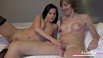 OmaHunteR Horny Tenn and Hot Granny Lesbian Action