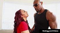 Crazy Nympho Nina Kayy Stalks & Fucks A Big Black Cock! - 9Club.Top