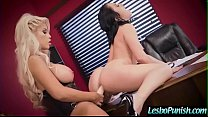 (Kristina Rose & Bridgette B) Lesbo Girls Punish Each Other With Dildos Clip-23
