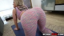 11599 Huge natural tits stepmom and her young son doing yoga preview