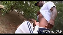 Naughty darksome beauty is fond of getting her holes pounded pornhub video