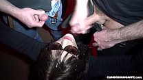 Slutwife gets 30 loads in the basement of a club Image