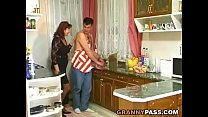 Granny Gets Her Hairy Pussy Stuffed In The Kitchen thumbnail