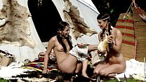 Tribe lesbians Klara and Devin go down on each other on Sapphic Erotica