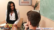 Busty sex teacher Jaclyn Taylor gets banged in classroom thumbnail