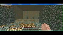 Jogando minecraft
