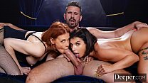 Deeper. Maitland Ward Passionate Threesome with...