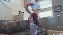 Laelia Blonde teen girl masturbating on hot cam