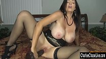Horny Big Tit MILF Charlee Chase Stuffs Pussy With Big Black Dildo - xmissy nl thumbnail