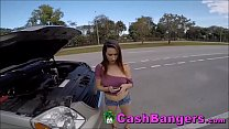 Stranded Horny Big Boobs Teenager Takes Money For Sexual Favors