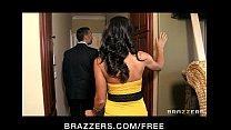 Tattooed brunette MILF Lezley Zen takes on two big hard cocks • xxx photos thumbnail