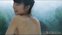Flat chested ka waii girl takes a shower and m  a shower and massage