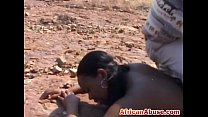 African bitch bonded and abused pornhub video