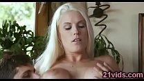 Image: Hot blonde Blanche Bradburry anal riding