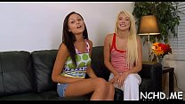 Packing monster riding together with blowjob by racy blonde Ariana Marie's Thumb