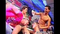 Wild homosexuals having a joy time