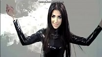 Nadia Ali wearing latex video