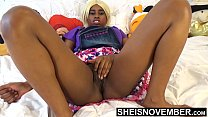 10983 Tiny Little Fanny Innocent Ebony Spinner Young Pussy Rubbed In Mini Skirt With Legs Up And Open , Msnovember Wet Cunt And Booty Closeup HD Sheisnovember preview