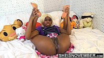 10477 Tiny Little Fanny Innocent Ebony Spinner Young Pussy Rubbed In Mini Skirt With Legs Up And Open , Msnovember Wet Cunt And Booty Closeup HD Sheisnovember preview