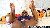 8446 Tiny Little Fanny Innocent Ebony Spinner Young Pussy Rubbed In Mini Skirt With Legs Up And Open , Msnovember Wet Cunt And Booty Closeup HD Sheisnovember preview