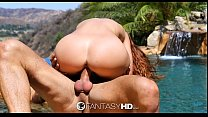 (Pokemon Eevee Porn) Karlie Montana And Danny Fuck By The Pool thumbnail