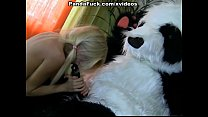 Blonde fucked with her favorite toy preview image