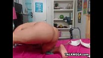 Chubby Latina Using Her Very Thick Toy preview image