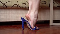 Feet In High Heels Closeup  Dangling And Dipping
